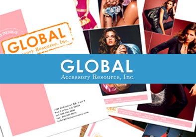 Global Accessory Resource: Graphic Design, Branding, Corporate ID, Marketing Collateral, Website Design, Textile and Product Design