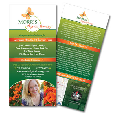 Graphic Design, Marketing Collateral: Morris Physical Therapy
