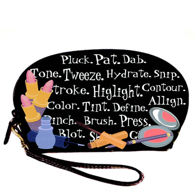 Chatter: Textile and Product Design: original artwork on wristlet