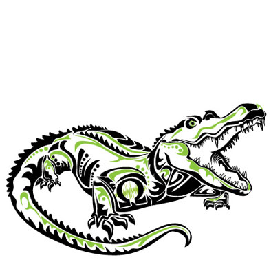 Original Artwork: gator totem