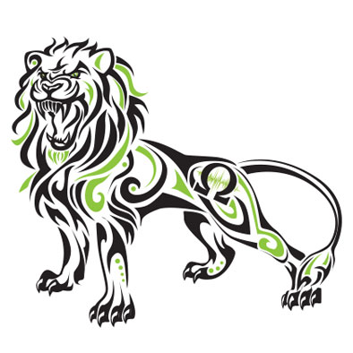 Original Artwork: lion totem