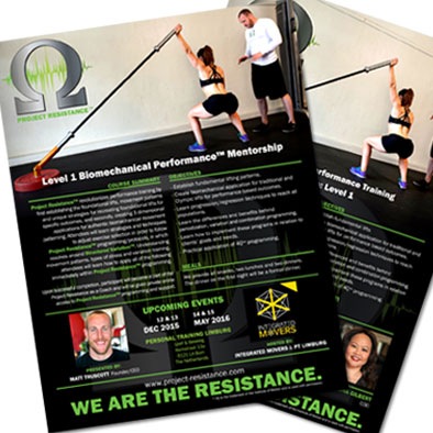 Marketing Collateral and Advertisement Design: Project Resistance