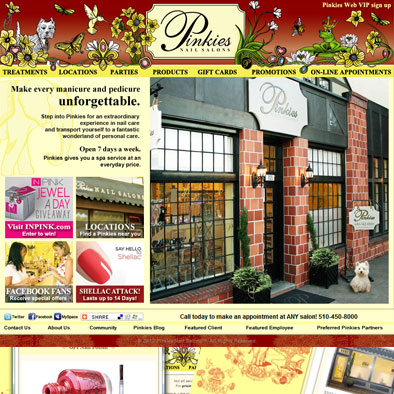 Website Design: www.pinkiesnailsalons.com