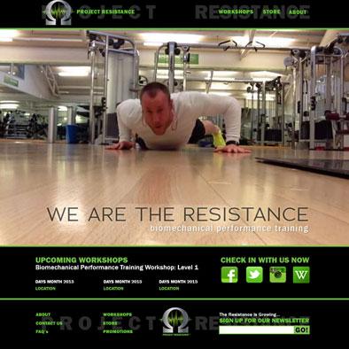 Website Design: Project Resistance